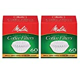 Melitta Java Jig, Single Serve Paper Coffee Filters - 2 Pack
