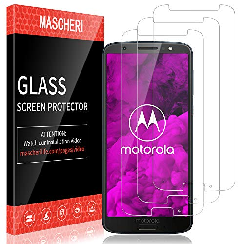 MASCHERI Schutzfolie für Motorola Moto G6 Panzerglas,[3 Stück] Bildschirmschutzfolie Bildschirmschutz Glas Panzerfolie Panzerglasfolie Schutzglass Folie Panzerglass für Motorola Moto G6