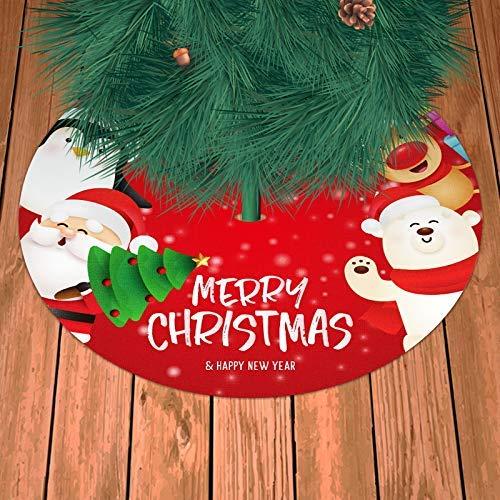 N / A Falda de árbol de Navidad Alfombra roja para árbol...