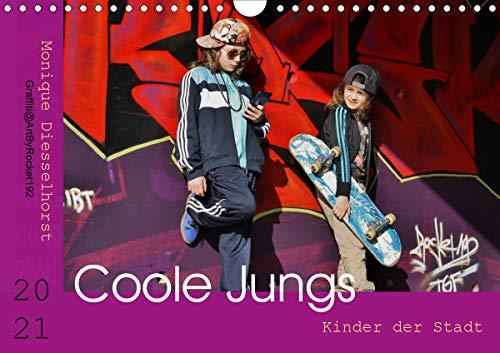 Coole Jungs. Kinder der Stadt (Wandkalender 2021 DIN A4 quer)