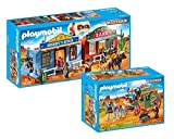 Playmobil Western Set: 70012 Coffret de Far-West transportable + 70013 Diligence du Far-West