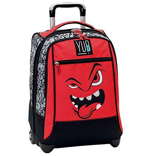 Zaino Trolley Yub Svalvolati Originale Seven Nuova Collezione 2017 Scuola Colore Rosso Linguaccia Boy Ragazzi