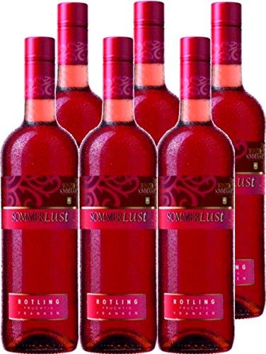 6 Flaschen - Sommerlust Rotling fruchtig Winzer Sommerach (6 x 0,75l)