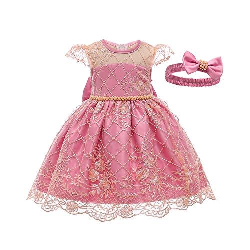 Susanlife LOKKSI - Vestido de encaje para nia con flores, vestido de princesa, vestido de fiesta para nios, boda, Navidad, vestido de baile, para nias y bebs