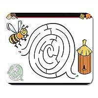マウスパッド漫画の教育迷路迷路活動ゲーム用子供マウスパッド用ノートブック、デスクトップコンピュータマットオフィス用品