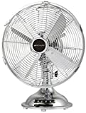 Bionaire BDF1214CR-CN 12-Inch Table Fan, All Metal, Chrome
