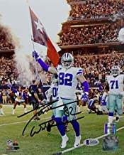 Jason Witten Autographed Dallas Cowboys 8x10 PF Photo Texas Flag- Beckett Auth Black