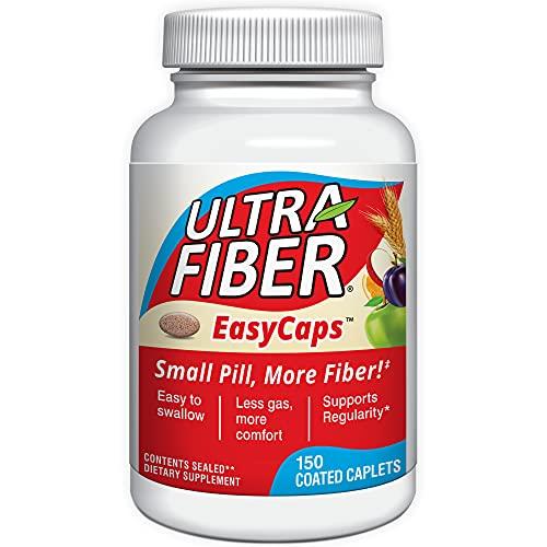 Ultra-Fiber Caplets - The Small Pill with More Fiber - Fiber Support for Regularity – 150ct