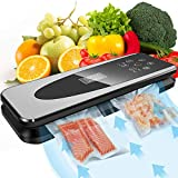 Automatic Vacuum Sealer Machine, 80Kpa Vacuum Food Sealer Machine with Kitchen Food Scale & LCD Display,Dry & Moist Food Modes,Vacuum Air Sealing System For Food Saver