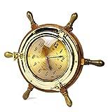 Nagina International Exclusivo reloj de buque náutico pirata estilo buey con volante | Regalos de decoración de pared y coleccionables (22,8 cm)