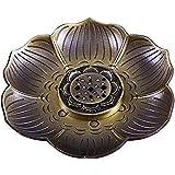 CDKJ Portaincenso Multiuso Bronzo Lotus del bruciatore di incenso per Incenso Coni o Bobin...