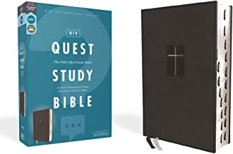 NIV, Quest Study Bible, Leathersoft, Black, Thumb Indexed, Comfort Print: The Only Q and A Study Bible