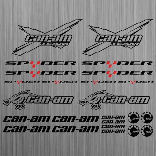 SUPERSTICKI can-am canam Team BRP Spyder Sticker Decal Quad ATV 24 Pieces aus Hochleistungsfolie Aufkleber Autoaufkleber Tuningaufkl