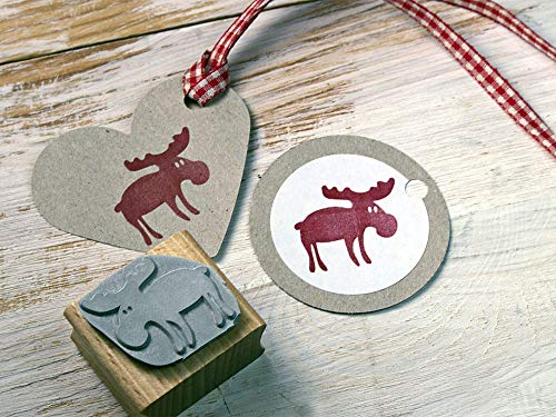 Stempel Elch Weihnachtsstempel für Basteln, DIY, Geschenkverpackung Scrapbooking