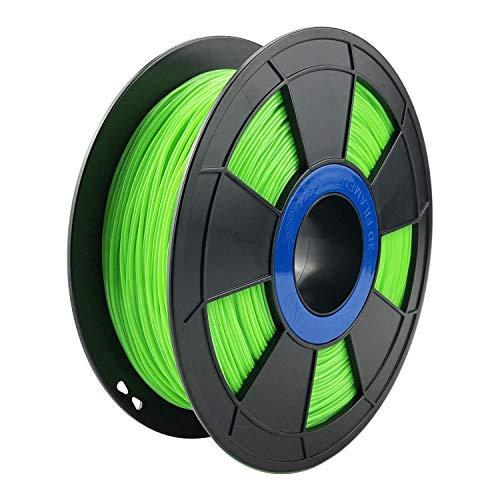 ZIRO Flexible TPU Filament 1.75mm,3D Printer Filament 1.75mm TPU Flexible Filament 0.8KG Spool, Dimensional Accuracy +/- 0.05mm,Green