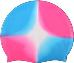 Badmuts, waterdichte stof siliconen badmuts lang haar sport zwembadmuts hoge elasticiteit flexibele en duurzame badmuts vo...