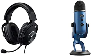 Logitech G Pro Gaming Headset with Blue Yeti USB Microphone, Midnight, Mic Only (988-000101)