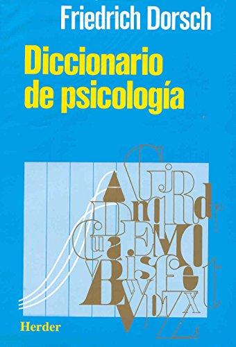 Diccionario de psicologia (Spanish Edition)