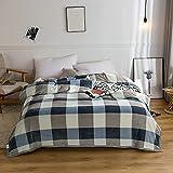KLily Mantas De Franela Manta Doble Individual para El Hogar Manta para La Siesta del Dormitorio De Estudiantes Manta De Aire Acondicionado para La Oficina del Dormitorio