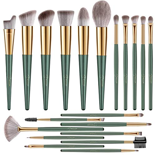 BESTOPE Makeup Brushes 20 PCs Makeup Brush Set Premium Synthetic Contour Concealers Foundation Powder Eye Shadows Makeup Brushes with Green Conical Handle
