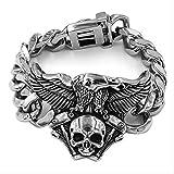 NOBRAND Engine Skull Eagle Bracelet Acero Inoxidable Joyas de Titanio...