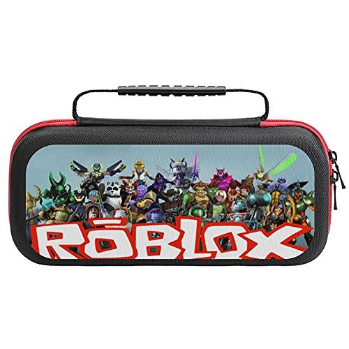 Rob Lox Rob Lox Tragetasche für Nintendo Switch, tragbare Switch Tragetasche mit Griff, Dual-Reißverschlüsse, Switch Bag