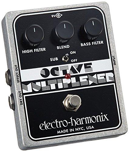 electro-harmonix Octave Multiplexer Octave Multiplexer Pedal - Pedal octavador para guitarra, color plateado