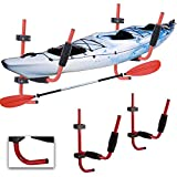 Heavy Duty 100 livres Kayak Mural Support de Rangement | Supporte étagère Murale en Extérieur Intérieur de Lourdes Charges pour Kayaks/Vélos/Pagaies/Planches de surf/Canoë Support de Rangement