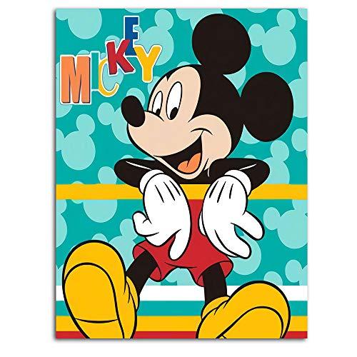 Ghychk Mickey Mouse lienzo imprime la pintura de la cabecera del dormitorio para la sala de estar, dormitorio decoración del hogar sin marco 45 x 60 cm