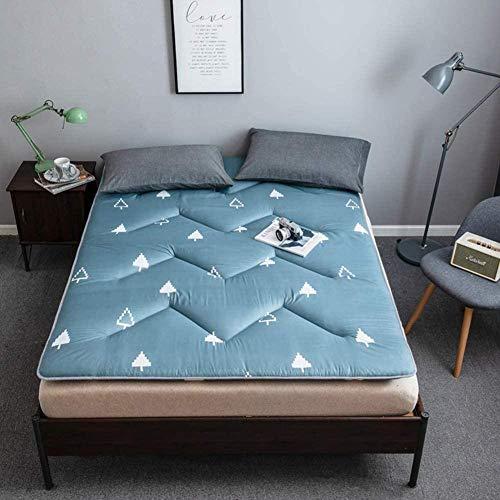 Colchón japonés plegable y grueso, suave, antideslizante, para piso, plegable, colchón, colchón, portátil, para camping, cama, cuna, grosor: 4 cm, B 1-G_1