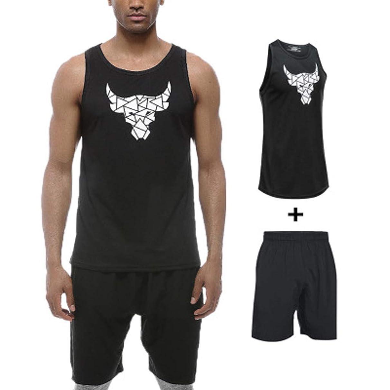 FD Izmn-summer Sport Fitness Sleeveless Vest Men's Casual Slim Fit Cotton T-Shirt Workouts