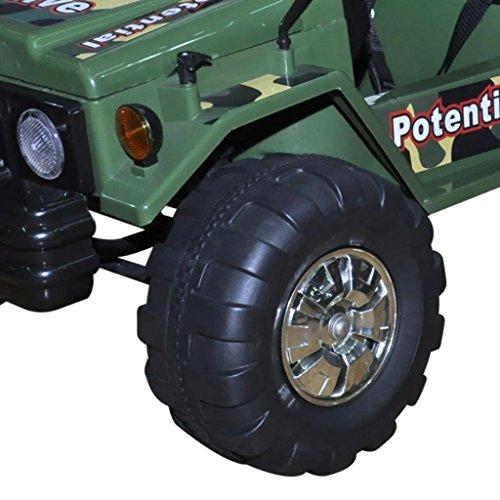 RC Kinderauto kaufen Kinderauto Bild 1: SENLUOWX Kinderauto Elektroauto Kinderfahrzeug Auto 2-Sitzer Armeegrün Kinderauto 3 – 5 km/h*