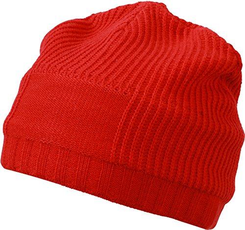 Myrtle Beach Gorro promoción Beanie Rojo Light-Red Talla:Talla única