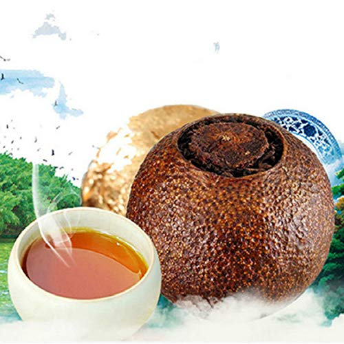 Té de Yunnan Té Pu'er Naranja Puer Té cocido Mandarina Empaquetado Puerh 250g (0.55LB) Té negro Té Puer Té chino Té de postre Té maduro Té de Puerh Té de Pu-erh Té de Pu erh Té rojo