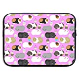 Guinea Pigs and Cupcakes 13/15 Inch Laptop Sleeve Bag for MacBook Air 11 13 15 Pro 13.3 15.4 Portable Zipper Laptop Bag Tablet Bag,Water Resistant,Black
