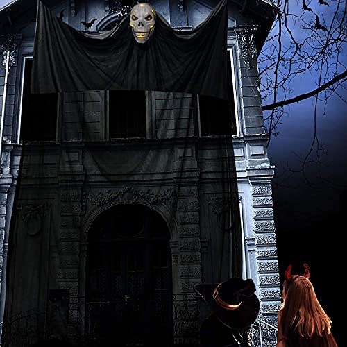 Halloween Hängende Geister, Hängend Geist Türvorhang Deko Hängendes Skelett Fliegendes Gespenst Horror Halloween Hängedekorationen Hanging Ghost für Tür Draußen Drinnen Haus Yard Party