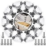betoy pomelli di cassetto 30mm,10 pezzi manopole di cristallo,pomelli sferici in cristallo per cassetti e armadi, pomoli manopole maniglie per mobili da cucina cameretta armadio cassettiera credenza