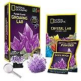 National Geographic- Purple Crystal Grow Kit de ranurado de Cristal Morado, Color (NGPCRYSTAL)