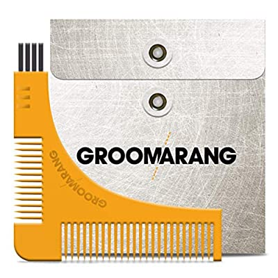 New Groomarang Beard Styling and Shaping Template Comb Tool Perfect Lines & Symmetry Shape Face Neck Line Fast And Easily. from Groomarang