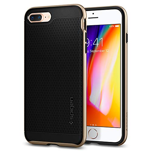 Spigen Funda iPhone 7 Plus/8 Plus, [Neo Hybrid 2] Protección Interna Flexible y Cuadro de Parachoques Duro Reforzado para iPhone 7 Plus/iPhone 8 Plus [Champagne Gold]