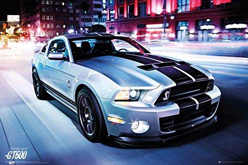 Autos - Ford Shelby GT500 2014 - Car Poster Plakat Druck - Grösse 91,5x61 cm