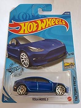 Hot Wheels 2020 Factory Fresh Tesla Model 3 Blue 112/250
