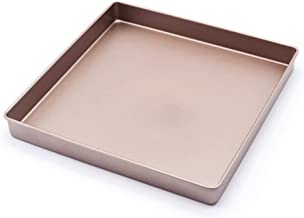 JinDun Baking Tray, Baking Tray 2828cm Cake Roll Baking Tray Square Cake Pizza Baking Tray Easy to clean (Color : A)