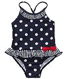iEFiEL Mädchen Kinder Badeanzug Bademode Bikini Polka Dotssize_name: 122(Herstellergröße: 6) color_name: Marineblau