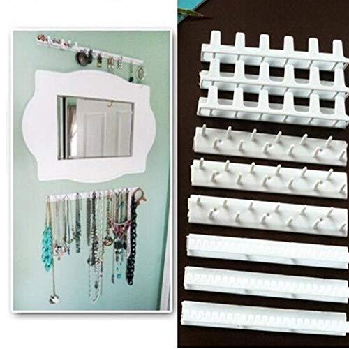 Plástico Autoadhesivo Adhesivo exhibición de la joyería Ganchos colgados de la Pared del Estante 9Pcs para el Hogar