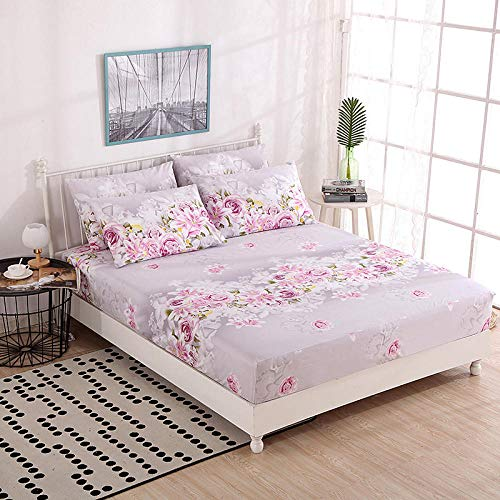 GTWOZNB Non Iron Soft Poly-Cotton Plain Dyed Flat Bed Sheet Single, King Available Single piece dust cover for bed sheet-3_1.5 * 2m