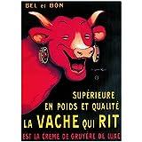 Editions Clouet 50214 - Affiche publicitaire 50x70 cm Vache Qui rit - Bel et Bon
