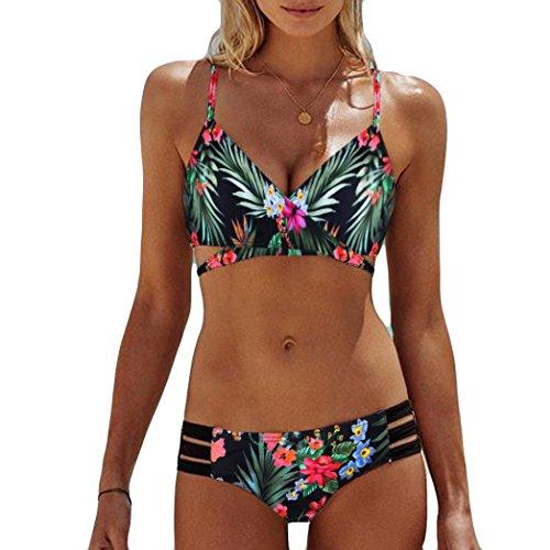 Overdose Damen floral bikini set grün xl