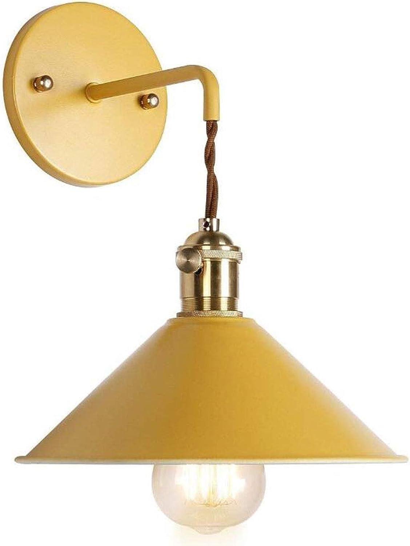 Bügeln Sie Wandlampe, Kreative LED-Beleuchtung-Leuchterpostmoderne Wandlampe Wohnzimmerschlafzimmer-Speisetischfarbwandlampe Der Kinder (Farbe   Gelb)