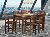 7 Pc Counter height Table set- pub Table and 6 bar stools